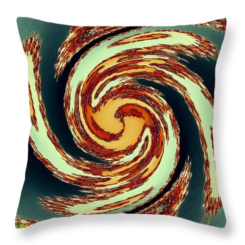 Landscape Throw Pillow featuring the painting Fractalia For Cupertino H A by Gert J Rheeders