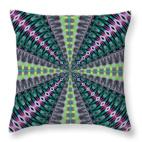 Fractals Throw Pillow featuring the digital art Fractalscope 25 by Rose Santuci-Sofranko