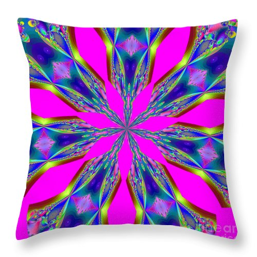 Fractals Throw Pillow featuring the digital art Fractalscope 29 by Rose Santuci-Sofranko