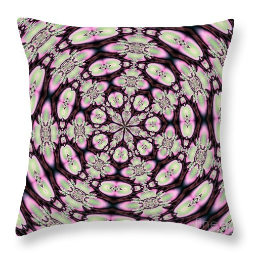Fractals Throw Pillow featuring the digital art Fractalscope 30 by Rose Santuci-Sofranko