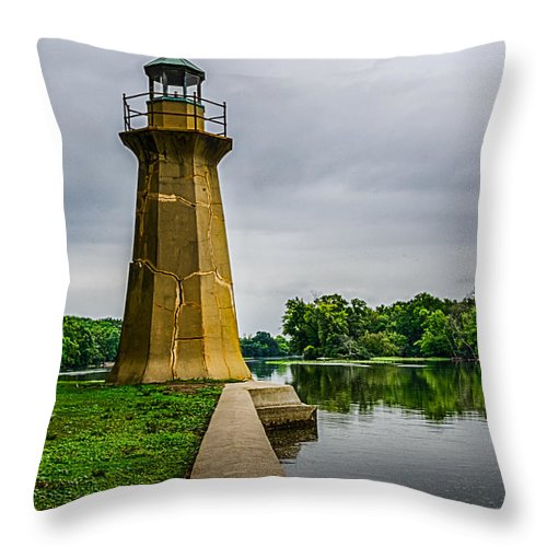 Fox River Throw Pillow featuring the photograph Fractured Beacon by Randy Scherkenbach