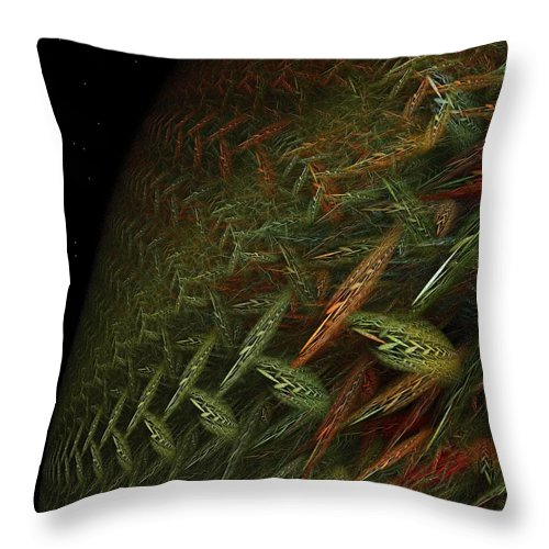 Earth Throw Pillow featuring the digital art Fragile Biosphere by Doug Morgan