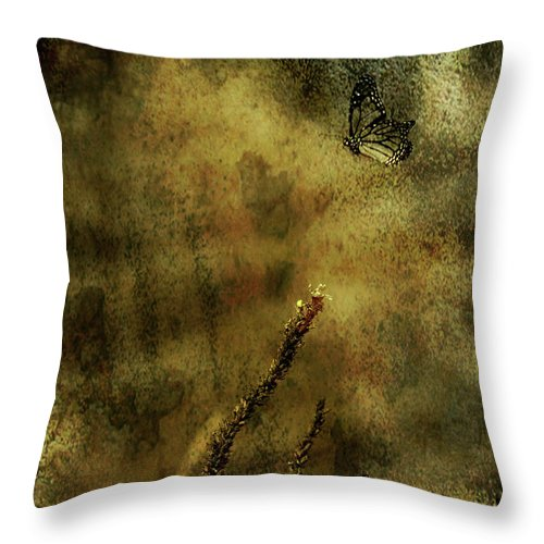 Festblues Throw Pillow featuring the photograph Fragile... by Nina Stavlund