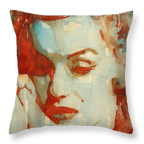 Marilyn Monroe Throw Pillow featuring the painting Fragile by Paul Lovering