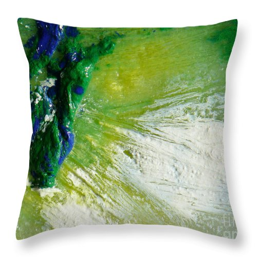 Ice-painting Throw Pillow featuring the photograph Fragmentation by Chris Sotiriadis