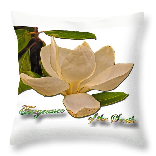 Digital Throw Pillow featuring the photograph Fragrance Of The South by Larry Bishop