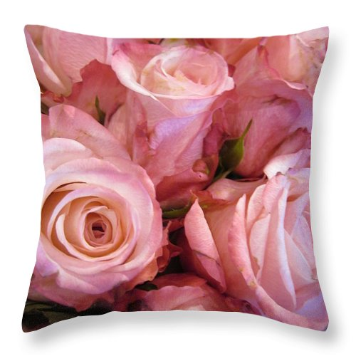 Flowerromance Throw Pillow featuring the photograph Fragrance by Rosita Larsson