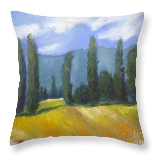 France Landscape Throw Pillow featuring the painting France Landscape by Venus