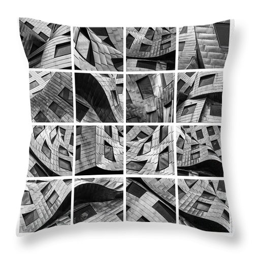 Las Vegas Throw Pillow featuring the photograph Frank Gehry's Lou Ruvo Center For Brain Health by Doug Sturgess