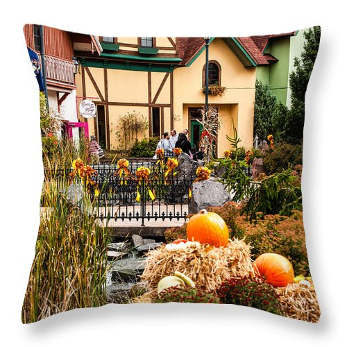 Frankenmuth Throw Pillow featuring the photograph Frankenmuth Fall by Sheri Bartoszek
