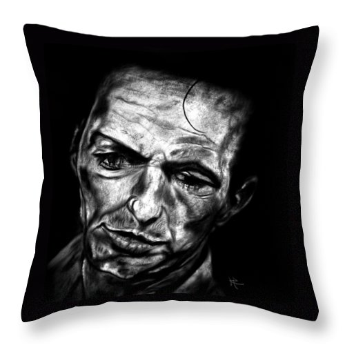 Send In The Clowns Throw Pillow featuring the drawing Frankie by Herbert Renard