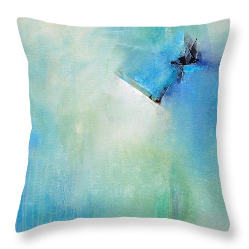 Acrylic Throw Pillow featuring the painting Free Flow by Karen Hale