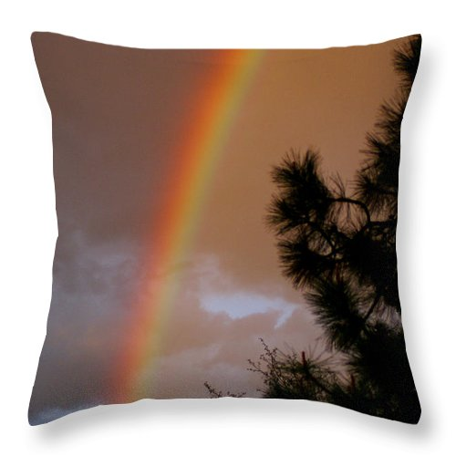 Rainbow Throw Pillow featuring the photograph Free Rainbow 2 by Ben Upham III