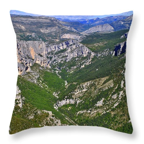 Alps Throw Pillow featuring the photograph French Alps by Maja Sokolowska