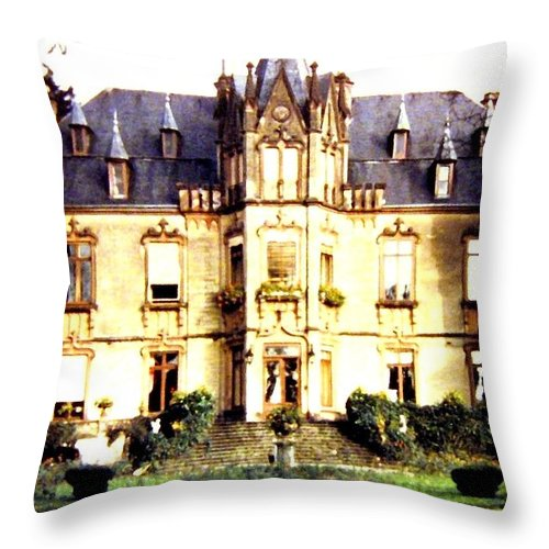 French Chateau 1955 Throw Pillow featuring the photograph French Chateau 1955 by Will Borden