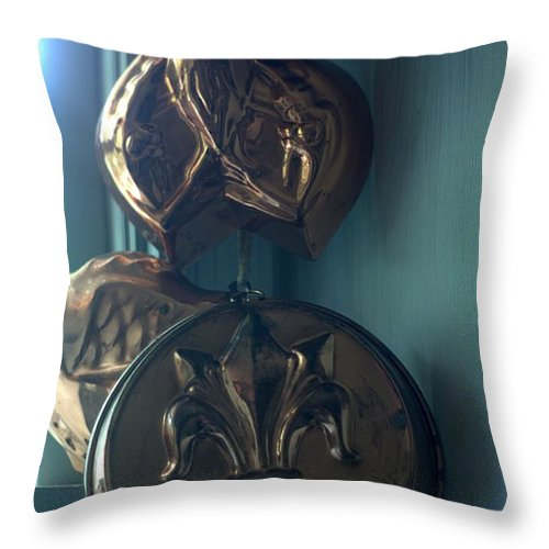 Copper Molds Throw Pillow featuring the photograph French Country Copper Molds by Suzanne Powers