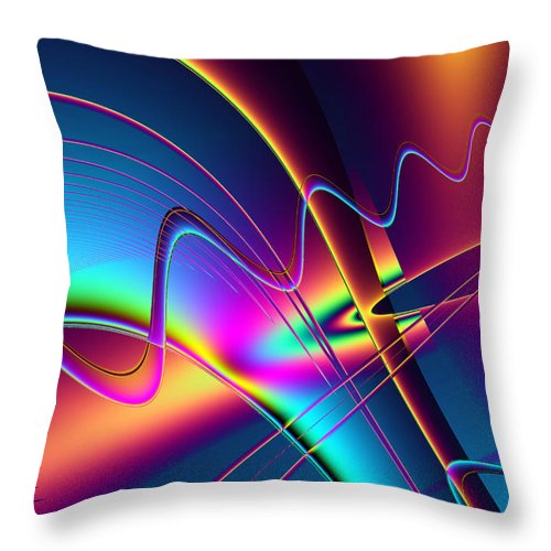 Abstract Throw Pillow featuring the digital art Frequency by Wendy J St Christopher