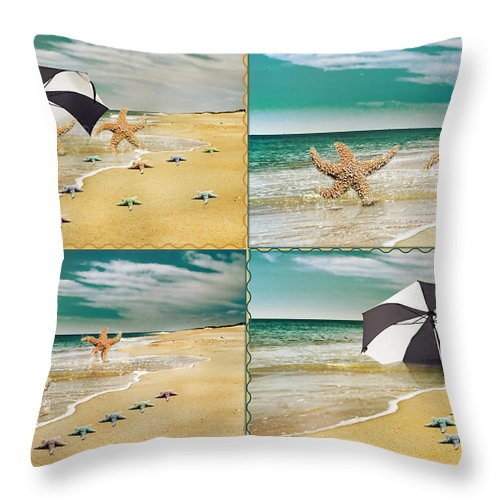 Starfish Throw Pillow featuring the photograph Fresh From The Sea by Betsy Knapp