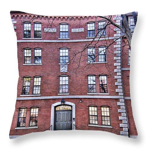 Freshman Throw Pillow featuring the photograph Freshman Dormitory-harvard University V2 by Douglas Barnard