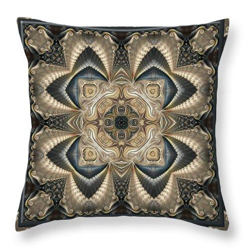 Kaleidoscope Throw Pillow featuring the digital art Freya No 2 by Charmaine Zoe