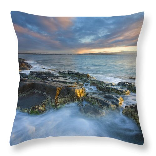 Freycinet Throw Pillow featuring the photograph Freycinet Cloud Explosion by Mike Dawson