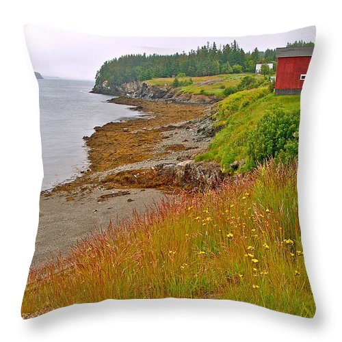Friar's Bay By Campobello Island Throw Pillow featuring the photograph Friar's Bay By Campobello Island-nb by Ruth Hager