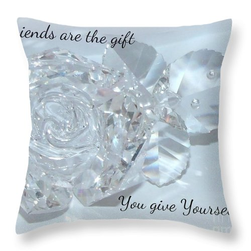 Friend Throw Pillow featuring the photograph Friends Are The Gift You Give Yourself by Gail Matthews