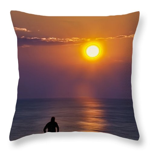 Adult Throw Pillow featuring the photograph Friends by Maria Coulson