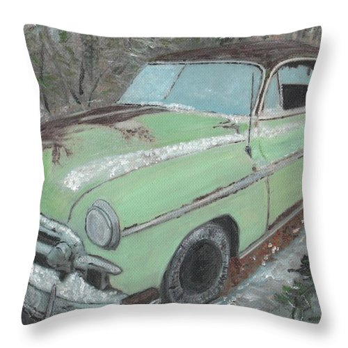 1950s Throw Pillow featuring the painting Friendship by Cliff Wilson