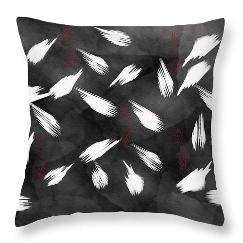 Abstract Throw Pillow featuring the painting Friendship Digital Painting by Georgeta Blanaru