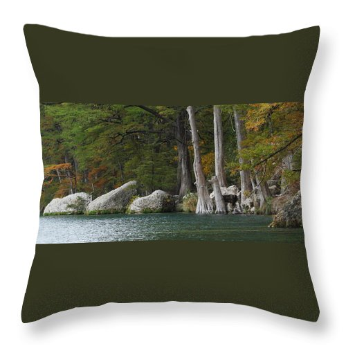 Fall Throw Pillow featuring the photograph Frio River 2 by Andrew McInnes