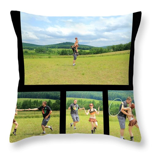 Frolic Rw2k14 Throw Pillow featuring the photograph Frolic Rw2k14 by PJQandFriends Photography