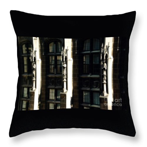 Statues Throw Pillow featuring the photograph From Rome To Chicago by Frank J Casella