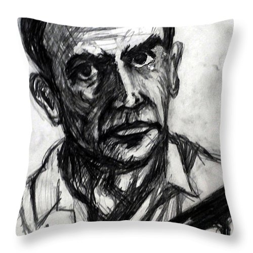 James Throw Pillow featuring the drawing From Russia With Love by Paul Sutcliffe