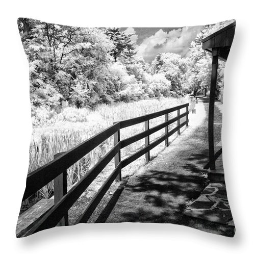 Infrared Throw Pillow featuring the photograph From The Lock Masters House by Paul W Faust - Impressions of Light