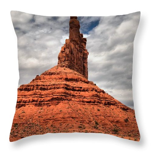Garden Of The Gods Throw Pillow featuring the photograph From The Valley To The Sky by Adam Jewell