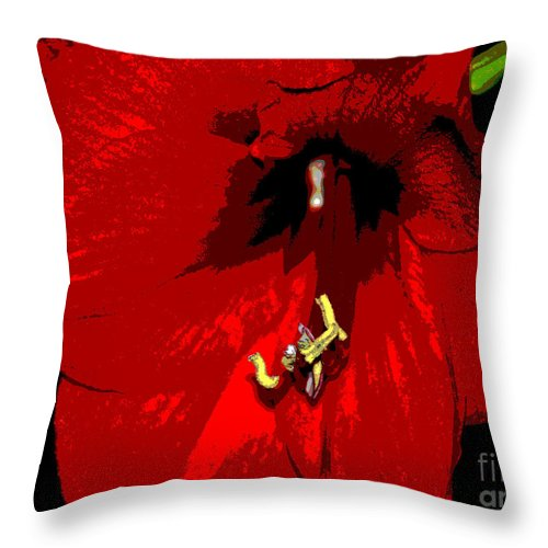 Red Throw Pillow featuring the photograph Front And Center by Cindy Manero