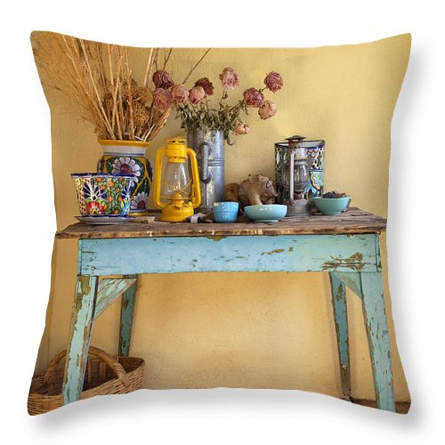 Garden Throw Pillow featuring the photograph Front Porch Still Life by Charlene Mitchell
