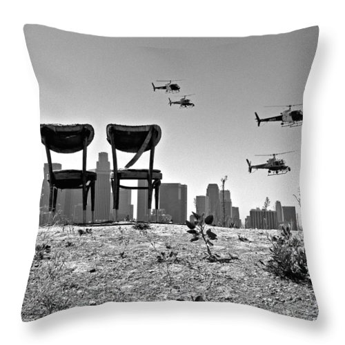 Black And White Throw Pillow featuring the photograph Front Row Seats by Guillermo Rodriguez