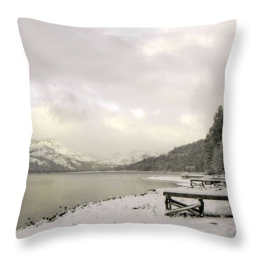 Forest Throw Pillow featuring the photograph Frosted Morning by Leah Moore