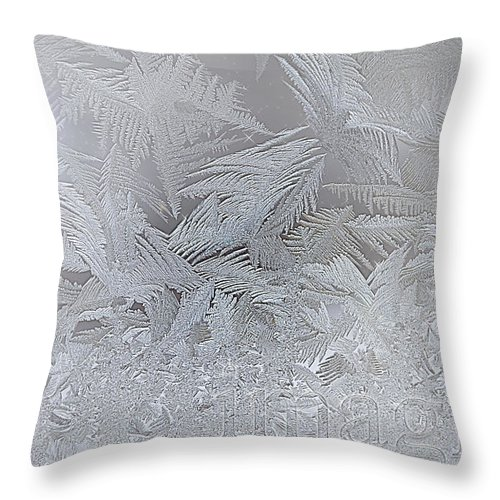 Imagine Throw Pillow featuring the digital art Frosty Dreams by Lisa Knechtel