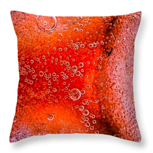 Abstract Throw Pillow featuring the photograph Frozen Balls Two by Bob Orsillo