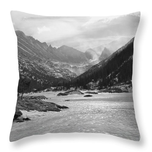 Mills Lake Throw Pillow featuring the photograph Frozen Lake by Tonya Hance