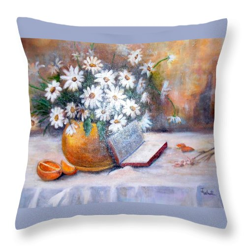 Bible Throw Pillow featuring the painting Fruit Of The Spirit by Judie White
