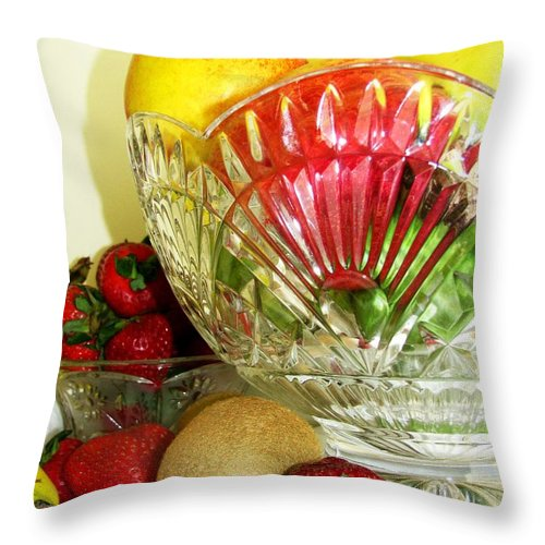 Still Life Throw Pillow featuring the photograph Fruit Still Life 3 by Margaret Newcomb