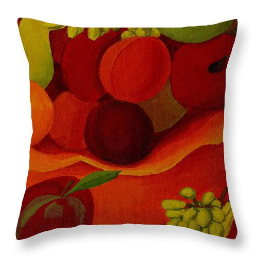 Fruit Throw Pillow featuring the painting Fruit-still Life by Anthony Dunphy