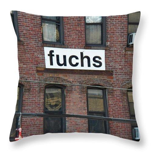 Wall Art Throw Pillow featuring the photograph Fuchs by Steven Huszar