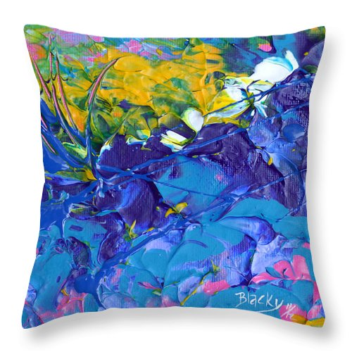 Floral Throw Pillow featuring the painting Full Bloom by Donna Blackhall
