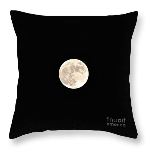 Moon Throw Pillow featuring the photograph Full Moon by Bridgette Gomes