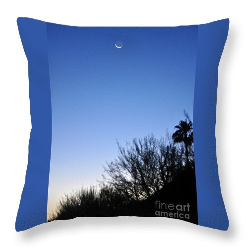 Moon Throw Pillow featuring the photograph Full Moon Faded by Jay Milo